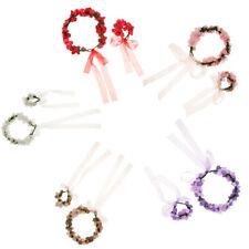 Wedding Rose Flower Garland Wreath Headband Beach Hair Wreath Hair Band