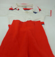Vintage Retro Baby Clothes Outfit Red White Sweater Pants Shorts Huntingdone 2T