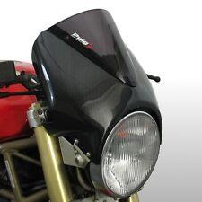 Pare brise puig vn pour moto guzzi V7 classic/V7 moustiquaire carbone/fumée