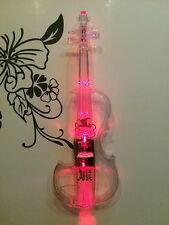 Luminous, Transparent, Acrylic Violin, Electronic Electro-acoustic Violin, Red