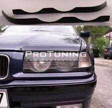 Black E36 3 series 90-98 Headlight covers eyws eyelids eye lid mask brow M3 M