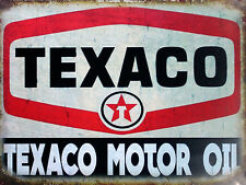 Texaco Motor Oil, Retro metal Aluminium Sign vintage / man cave / Garage