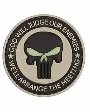 Punisher God Will Judge Our Enemies PVC Hook Badge Military Patch