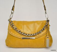 New $238 B. Makowsky Nubuck Leather Shoulder Bag Handbag Hobo Tote ~Nutmeg