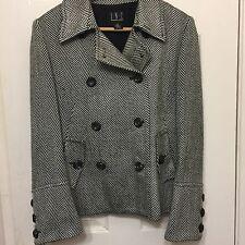 INC Women's Sz M Jacket Black White  Macy's Pea Coat