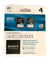 Sony SDHC 4gb Memory Card 2 Pack