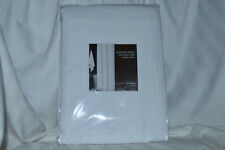 Hudson Park Collection Woven Pleat White Shower Curtain NIP