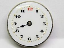 Antique No Name Pocket Watch Movement. 23.5 mm in size. Porcelain Dial