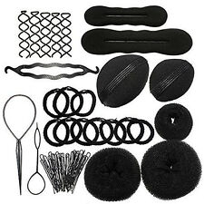 New Hot Roller Braid Twist Elastics Pins Hair Design Styling Tools