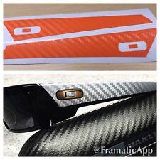 Oakley Gascan - Orange Carbon Fiber Vinyl Skin 1/2 Wrap