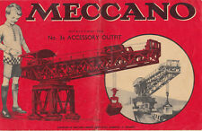 MECCANO (Erector set) toys Acessory Outfit Catalog ,30-40s