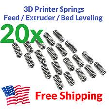 20x 3D Printer Extruder Spring Feed Bed Leveling MakerBot Prusa i3 20mm 7.5mm