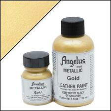 Angelus Metallic Gold acrylic leather paint 1 oz.