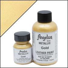 Angelus Gold acrylic leather paint 1 oz. bottle