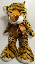 Tiger Kelly Toy Large Plush Stuffed Animal Floppy Brown Bow Soft Bean Bag Bengal