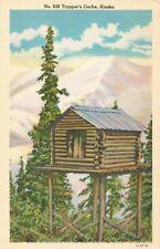 Postcard Trapper's cache Alaska