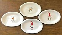 Rae Dunn Oval Christmas Snack Plates Gnome Reindeer Magic Dasher Prancer Lot
