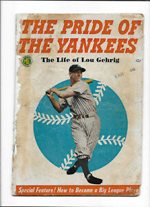THE PRIDE OF THE YANKEES [1949 PR] LIFE OF LOU GEHRIG   PHOTO COVER!