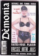 French mag adult DEMONIA n°35 bdsm latex fetish