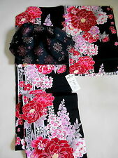 """Japanese kimono """"YUKATA""""  with TUKURI OBI, casual summer KIMONO"""