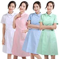 Nurse Uniform Hospital Medical Scrub Dress Doctor Work Nursing Workwear S-3XL