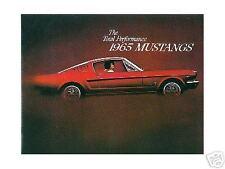 1965  65   MUSTANG/GT  SALES BROCHURE