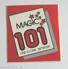 ADESIVO RADIO / Sticker / Autocollant_ RADIO MAGIC 101 NETWORK (cm 6 x 7)