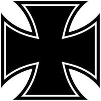 Iron Cross Aufkleber 2 Stück Eisernes Kreuz 10X10cm !