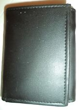 Magnum Genuine Leather Trifold Wallet, Black