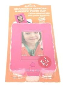 New Hallmark Recordable Artwork Magnetic Photo Clip Pink