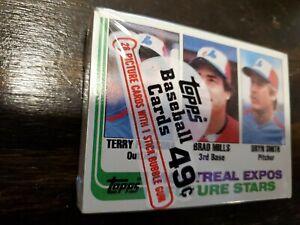 NEW Sealed 1982 Topps Baseball Cello Pack Francona Brett RC Rookie Cards? Wax