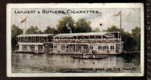 Tobacco Card, Lambert Butler, THAMES LECHLADE TO LONDON, 1907, Houseboats, #30