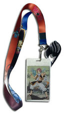**License** Fairy Tail Natsu Happy & Guild Symbol Badge ID Holder Lanyard #37795