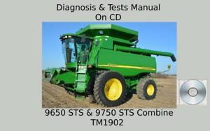 John Deere 9650 STS & 9750 STS Combine Diagnosis / Tests Technical Manual TM1902