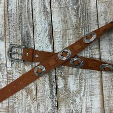 Will Leather Goods Tan Concho Western Belt NWT 36