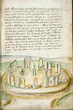 Stonehenge England Lucas De Heere 1574 Britain & Ireland Text 7x5 Inch Print