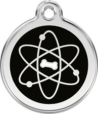 Atom Enamel/Solid Stainless Steel Engraved ID Dog/Cat Tag