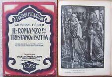 Bédier - IL ROMANZO DI TRISTANO E ISOTTA - De Agostinni, 1929* - il. PORCHEDDU