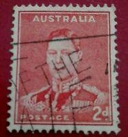 Australia:1937 -1949 Definitives 2 P. Rare & Collectible Stamp.