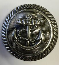 Metal Effect Silver Anchor Buttons 44 Ligne / 28mm Pack Of 10