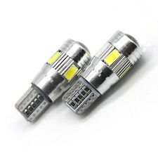 2x XENON WHITE HIGH POWER 6 5630 SMD 501 T10 W5W CANBUS ERROR FREE LED SIDELIGHT