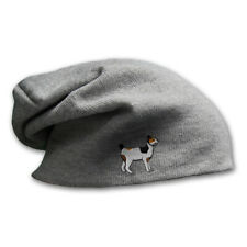Slouchy Beanie for Men Japanese Bob Tail Cat Embroidery Cotton Women Skull Cap