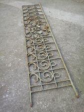 198 / 221 cm - Ancien garde corps de fenêtre art nouveau, (tournesol) en fonte