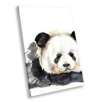 Black White Watercolour Portrait Animal Canvas Wall Art Large Picture Prints