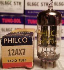 PHILCO 12AX7 17MM LONG BLACK PLATE ECC83 NOS TUBE 1952  (SYLVANIA)