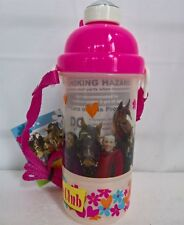 ~ Saddle Club - HORSE DRINK BOTTLE SIPPER POP UP STRAW & FOOD SNACK CONTAINER