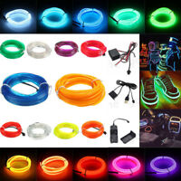 LED Flexible Neon Glow EL Wire LED String Strip Light Rope Tube Party Decor Xmas