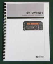 Icom IC-275H Instruction Manual: Premium Card stock & Plastic Protective Covers!