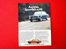 1972 orig. Werbung aus Zeitschrift  Auto  OPEL ASCONA  Motivvariante