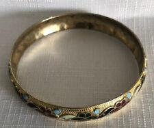 Enamel Floral Gold Tone Bracelet